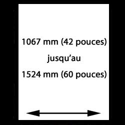 1067mm (42 pouces) t/m 1524mm (60 pouces) papier