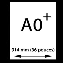A0 Oversize papier (914mm, 36 pouces)
