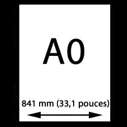 A0 papier (841mm, 33,1 pouces)
