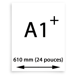 A1 Oversize papier (610mm, 24 pouces)