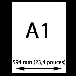A1 papier (594mm, 23,4 pouces)