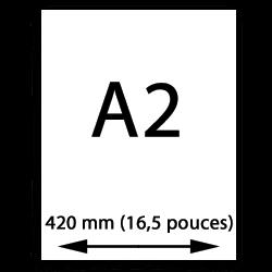 A2 papier (420mm, 16,5 pouces)