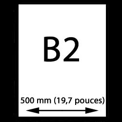 B2 papier (500mm, 19,7 pouces)
